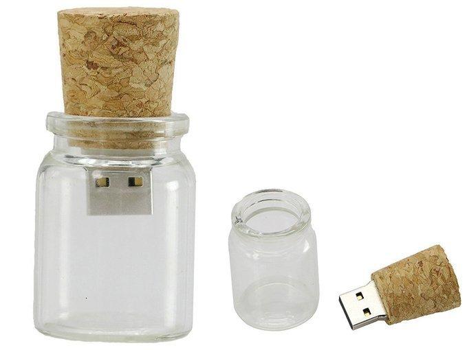 PENDRIVE BUTELKA SŁOIK KOREK PAMIĘĆ FLASH USB 64GB