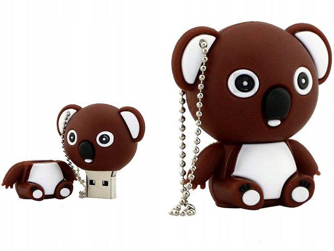 PENDRIVE MIŚ Brązowy ZWIERZĘ USB PAMIĘĆ FLASH 64GB