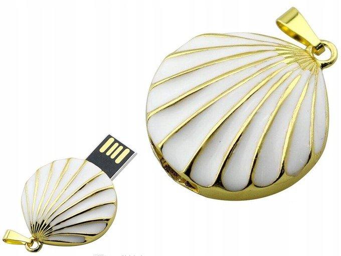 PENDRIVE MUSZELKA PREZENT NASZYJNIK FLASH USB 64GB