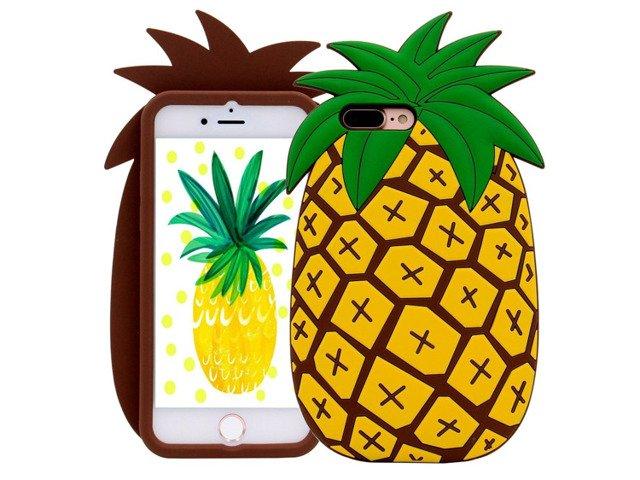 CASE ETUI FUTERAŁ SILIKON iPhone 6 6S ANANAS