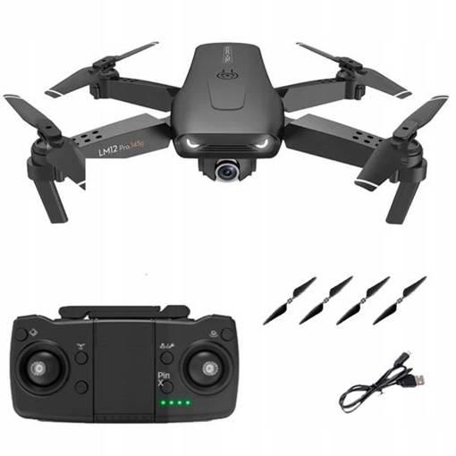 Dron Mini LM12 PRO GPS WIFI FPV 4K HD ESC 2 KAMERY 5G