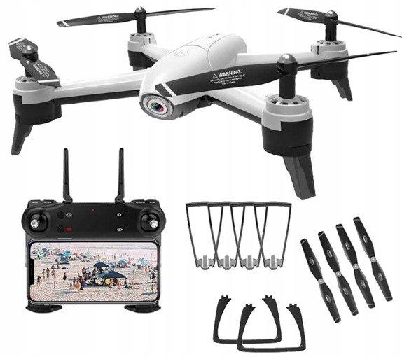 Dron SG106 Podwójna Kamera 1080P HD WiFi FPV Biały