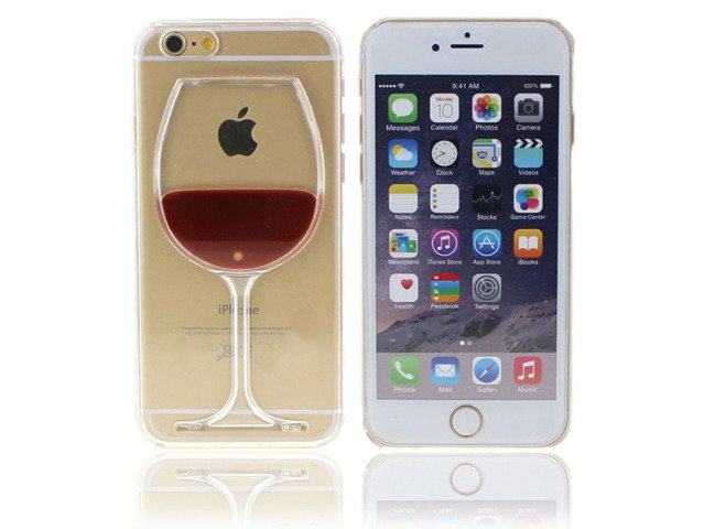 ETUI CASE Plastik iPhone 6 6s PLUS KIELISZEK WINA