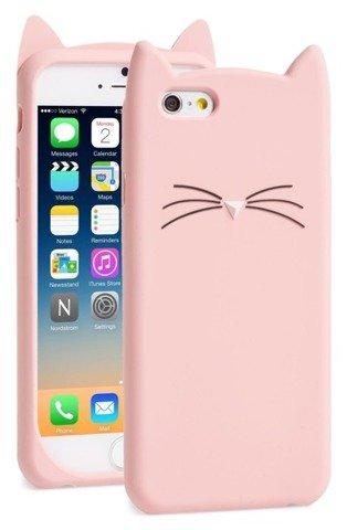 ETUI FUTERAŁ SILIKONOWY iPhone 5 5S SE KOT KOTEK