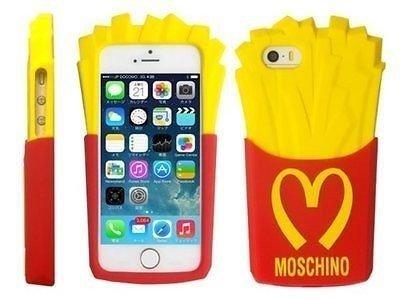 Etui Obudowa Futerał iPhone 7 FRYTKI MOSCHINO