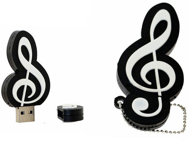 PENDRIVE MUZYKA Klucz WIOLINOWY USB WYSYŁKA24 64GB