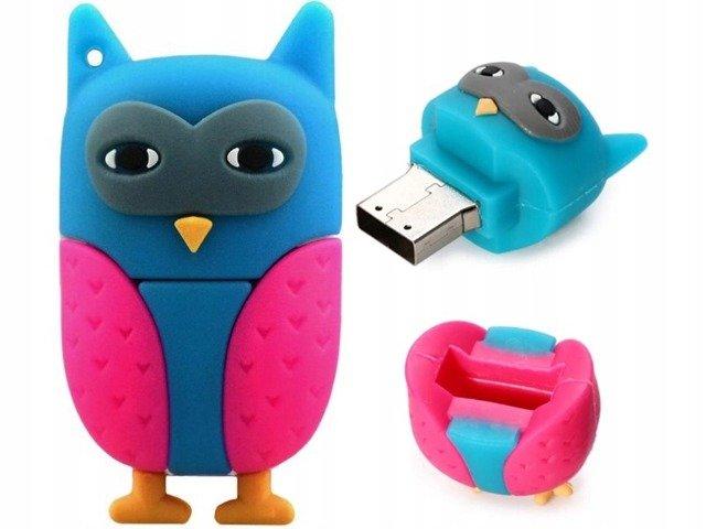 PENDRIVE SOWA SÓWKA ZWIERZĘ PTAK USB PAMIĘĆ 8GB