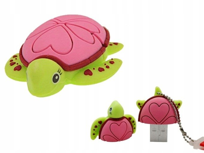 PENDRIVE ŻÓŁW Żółwie Ninja Wodny Zwierzę Gad 32GB